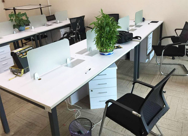 简约现代电脑八人位员工写字台屏风办公室桌