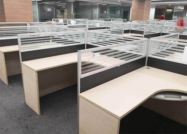 简约现代电脑桌职员办公桌屏风卡座办工桌