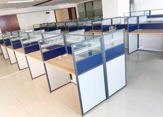 员工二手高屏风办公桌电脑桌工位桌
