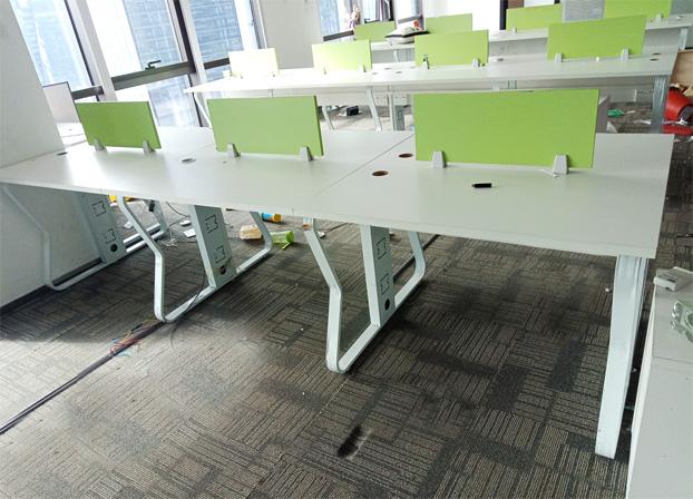 二手职员办公桌简约现代电脑桌屏风工作位