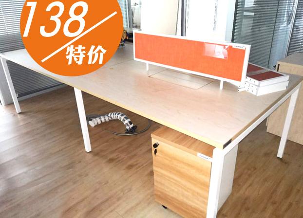 二手职员办公桌员工屏风桌工作位办公室电脑桌