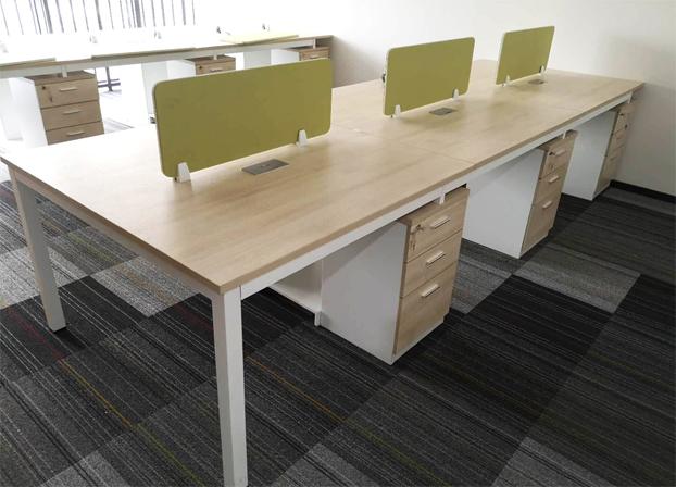 二手职员办公桌简约现代桌屏风隔断卡座工作位
