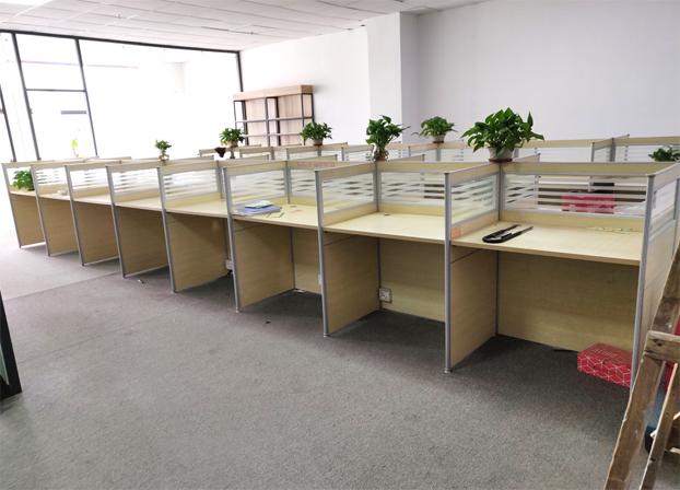 二手简约现代办工桌屏风卡座工作位职员办公桌