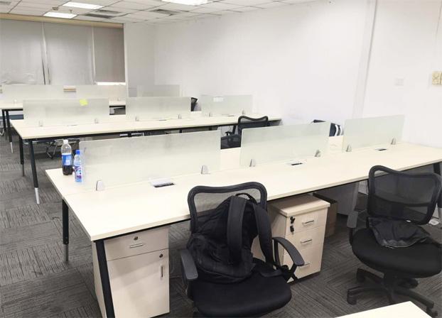 二手职员办公桌员工电脑桌简约现代工作位屏风桌