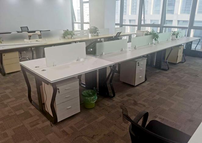 卡位职员办公桌四人位办公室桌椅组合简约电脑桌子