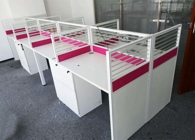 二手职员办公桌卡座简约现代隔断电脑桌