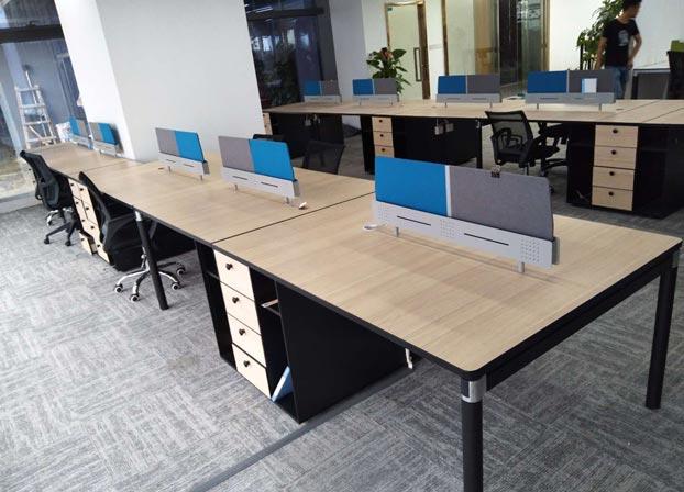 职员办公桌简约现代4人位工作位员工桌