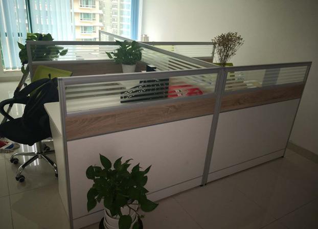 办公家具办公桌玻璃屏风桌简约隔断桌
