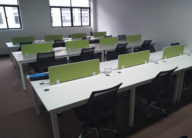 职员办公桌简约现代桌椅组合屏风隔断卡座