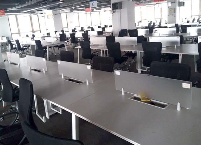 办公家具职员办公桌4人办公卡位员工6人屏风工位钢架电脑桌