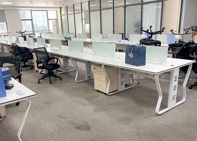 职员桌子办公家具办公室办公桌椅组合单双人四六人位简约现代屏风