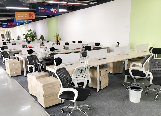 办公家具职员办公桌 员工卡位办公家具4人位屏风办公桌