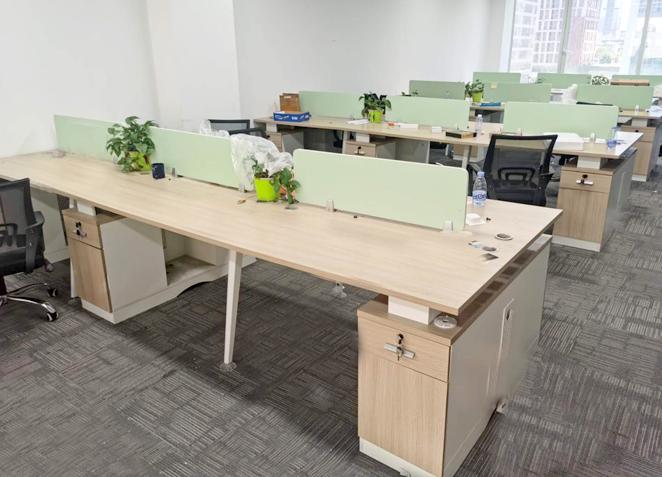 办公家具 职员办公桌屏风卡位座办公桌简约4/6人位办公室桌