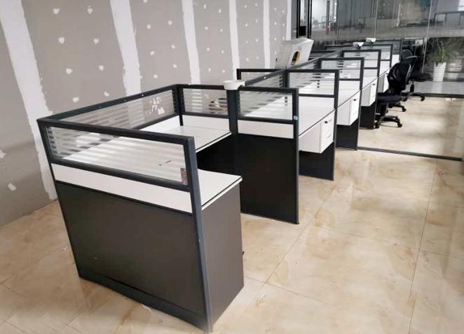 办公家具职员办公桌椅组合简约现代四人位4/6L型屏风卡位员工卡座
