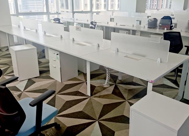 办公桌椅组合职员办公桌子工位屏风桌椅卡座家具工作桌卡位电脑桌
