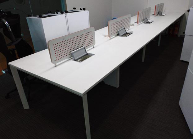 简约现代办公桌职员屏风办公家具员工桌电脑桌