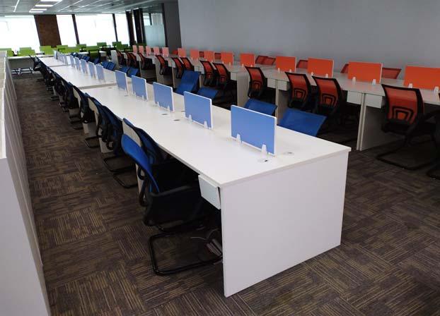 职员办公桌简约现代办公家具工作位员工桌屏风办公桌