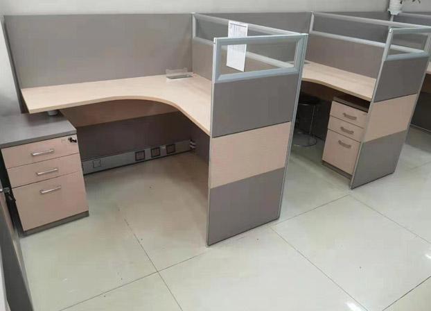 办公桌简约现代办公家具玻璃屏风卡座隔断员工桌