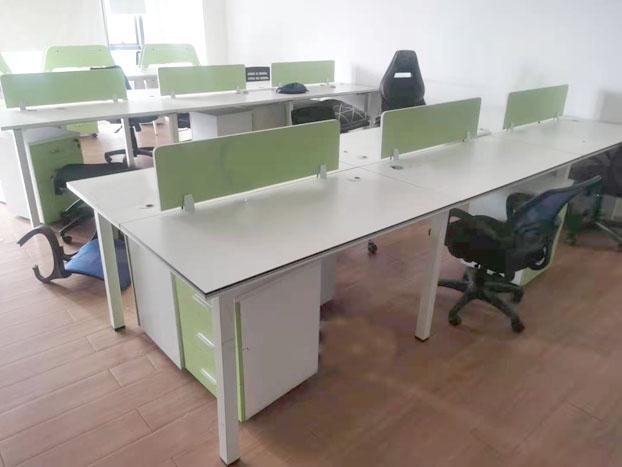 办公室职员办公桌椅组合屏风卡位办公卡座4/6人位员工桌