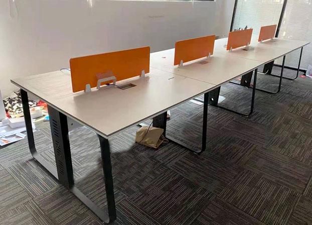 职员桌办公桌6人位屏风工作卡位四人办公室办公桌