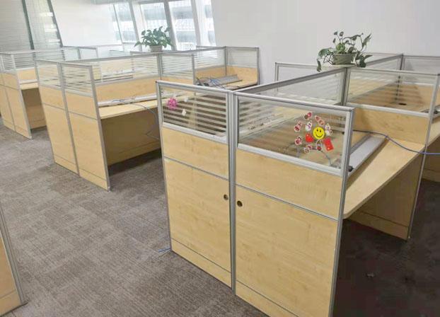 办公室职员办公桌椅组合简约办公室电脑桌屏风卡位