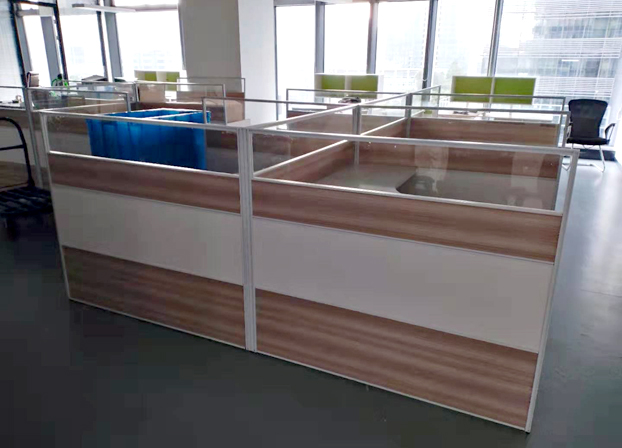 办公桌简约现代L型屏风办工作桌4/6人隔断卡位桌椅