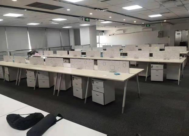办公桌简约现代组合屏风工位职员电脑办工桌