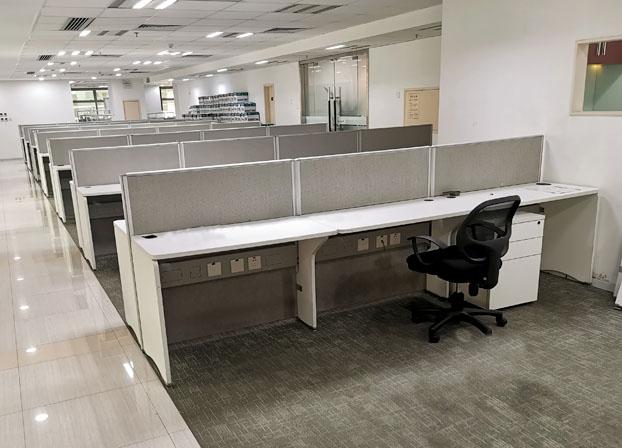 职员办公桌简约现代办公家具工作位员工桌屏风桌