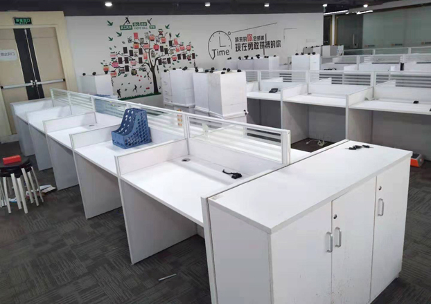 办公桌简约现代公司办工作桌屏风电脑办工桌