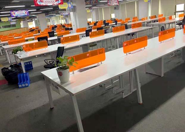办公室职员办公桌简约双人员工办公桌椅电脑桌