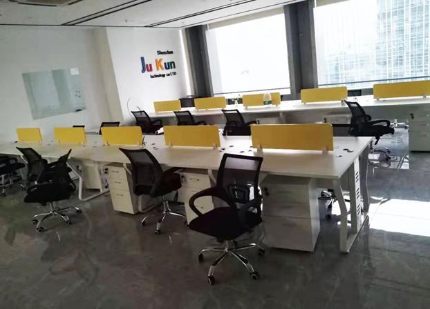 卡位办公桌简约电脑屏风办工桌公司工作桌