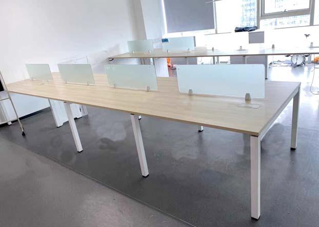职员办公桌4人位员工办公桌椅组合简约现代屏风卡位