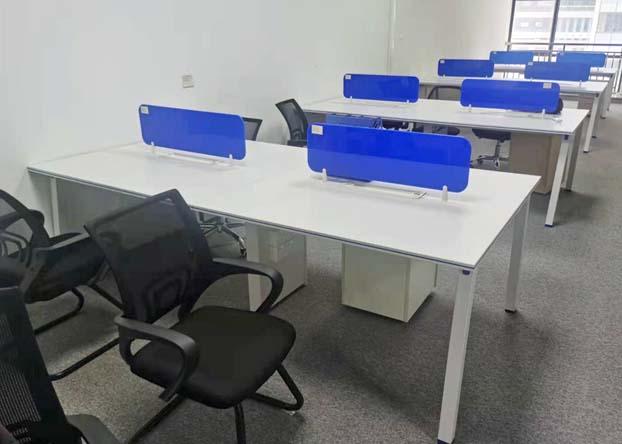职员办公桌简约现代四人位员工桌屏风卡位财务桌