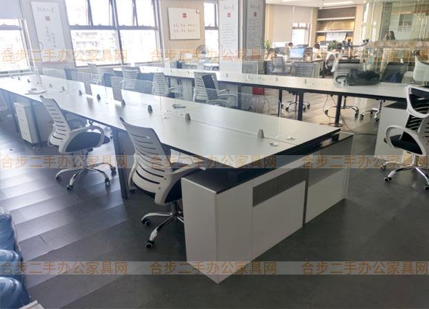 办公桌椅组合简约现代卡位职员工位4四人6办公室桌