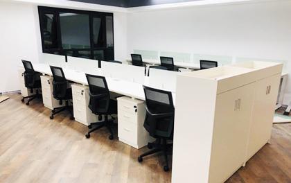 合步二手办公家具安装服务案例——金融类公司温先生