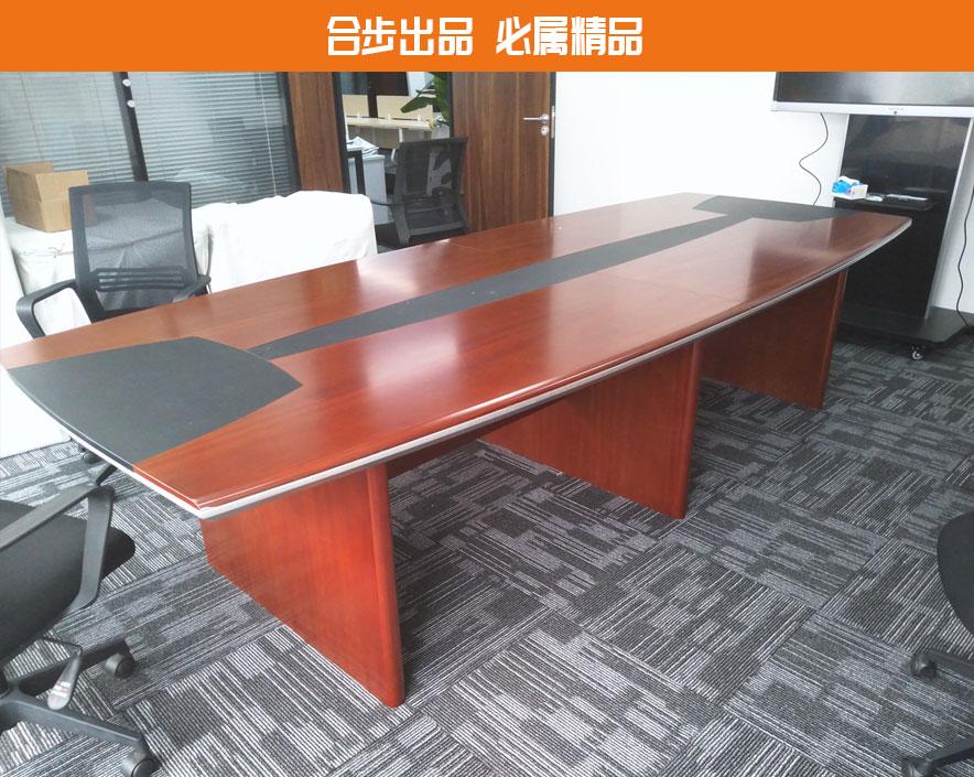 大型会议桌长桌圆角简约现代培训桌