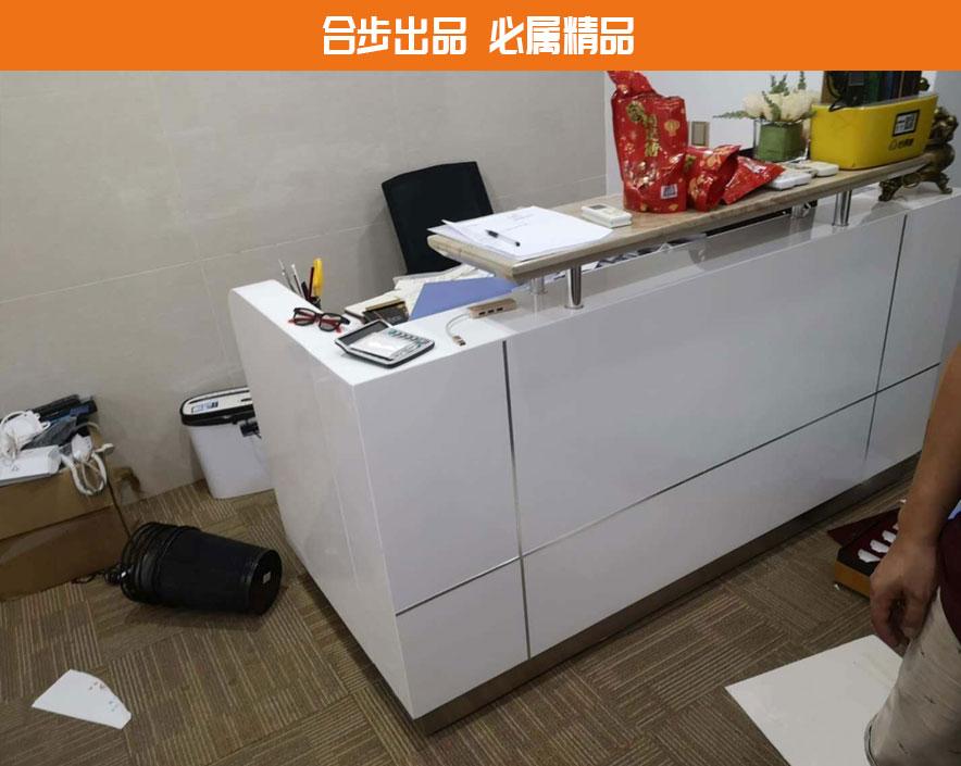公司办公室烤漆前台接待台简约现代