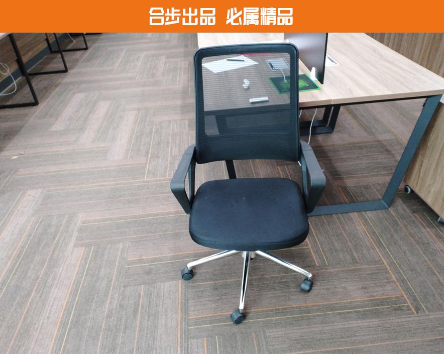 电脑椅办公椅弓形职员椅员工靠背椅转椅